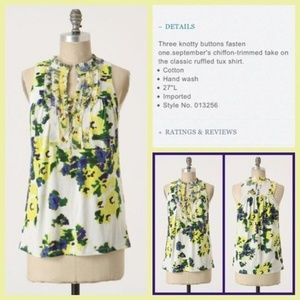 ANTHRO One September Swank & Dapper Floral Tank S